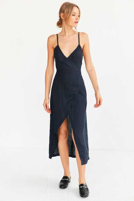 SIR The Label Gigi Midi Wrap Dress