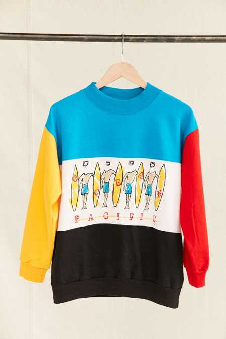 Vintage Ocean Pacific Color Block Sweatshirt