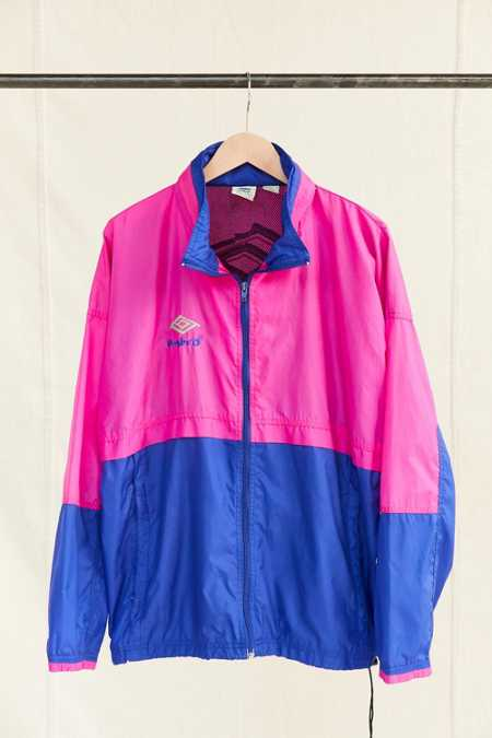 Vintage Umbro Pink Windbreaker Jacket