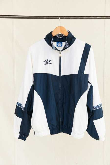 Vintage Umbro White/Navy Windbreaker Jacket