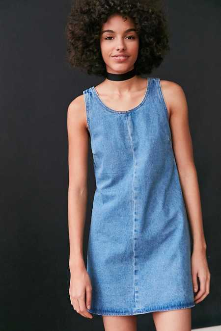 BDG Scoop-Neck A-Line Denim Mini Dress