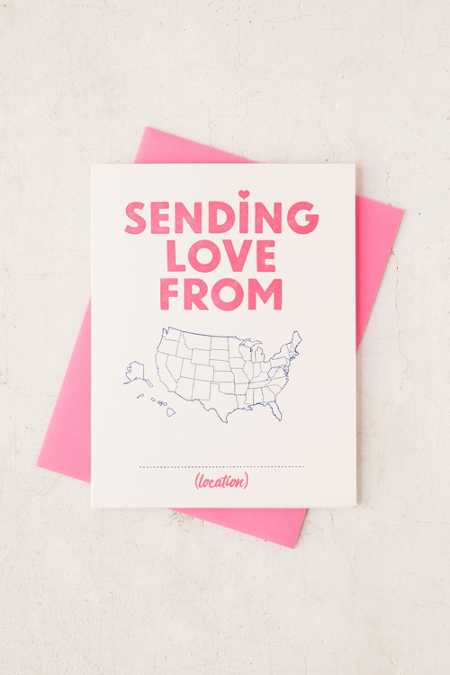 Greenwich Letterpress Sending Love From Greeting Card