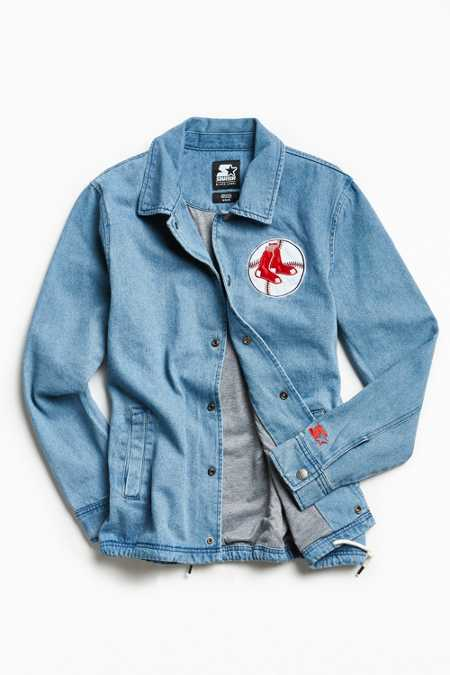 Starter X UO MLB Boston Denim Coach Jacket