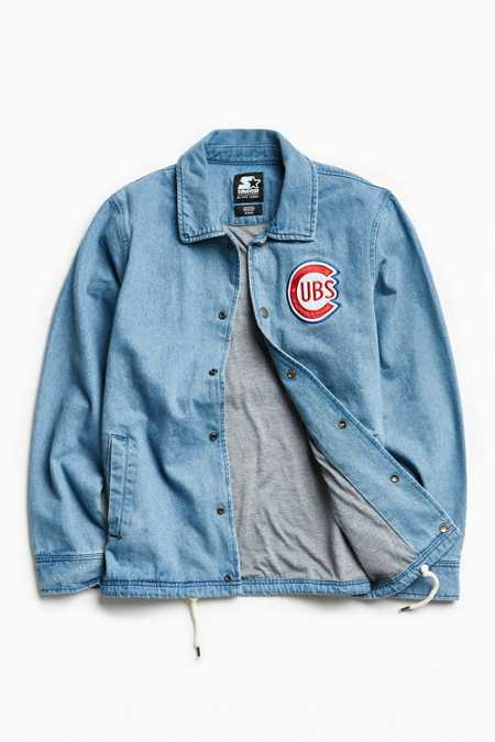 Starter X UO MLB Chicago Denim Coach Jacket