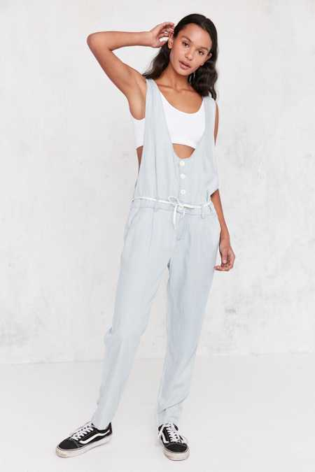 OBEY Button-Front Chambray Jumpsuit