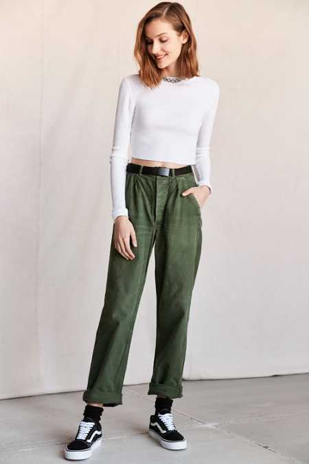 Vintage Army Green Work Pant