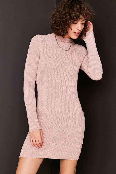 Kimchi Blue Ellie Chenille Mock Neck Mini Dress