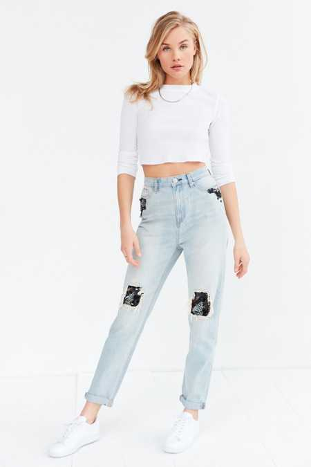 BDG Mom Jean -  Sequin Patch