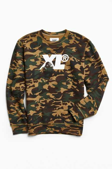 X-Large Camo Fleece Crew Neck Sweatshirt