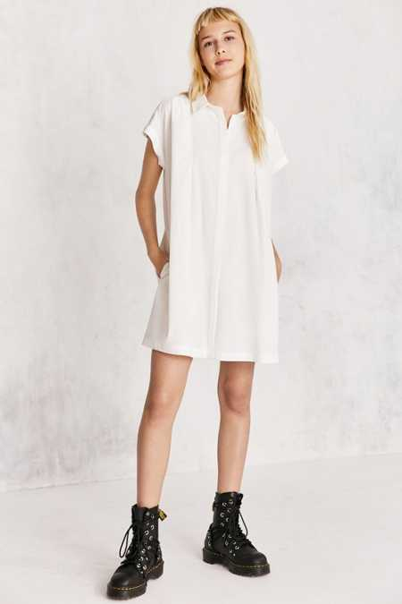 Cooperative Peyton Poplin Button-Down Shirt Mini Dress