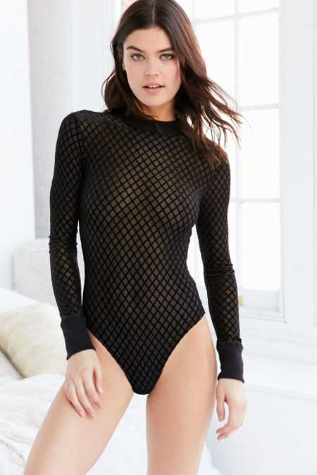 Out From Under Foxy Flocked Bodysuit