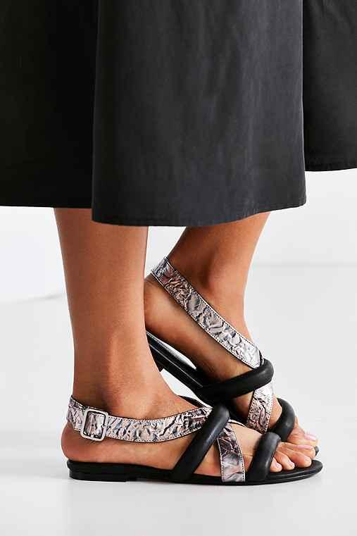 Intentionally Blank Biz Metallic Sandal,BLACK MULTI,10