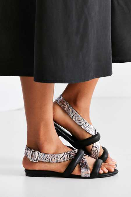 Intentionally Blank Biz Metallic Sandal