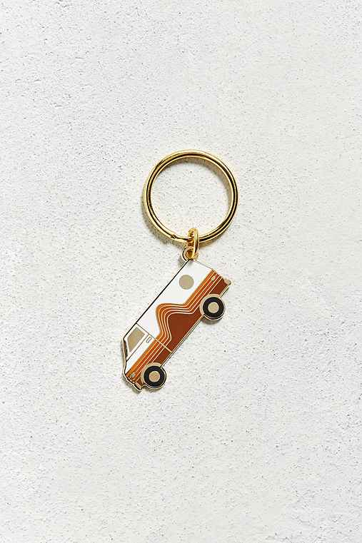 Valley Cruise Press X Circa 78 Designs Dream Wagon Keychain,BROWN,ONE SIZE