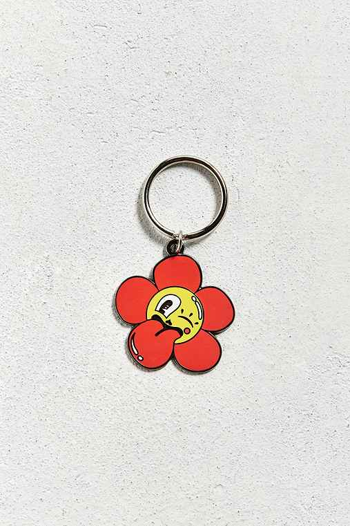 Valley Cruise Press X Hattie Stewart Cheeky Flower Keychain,RED,ONE SIZE