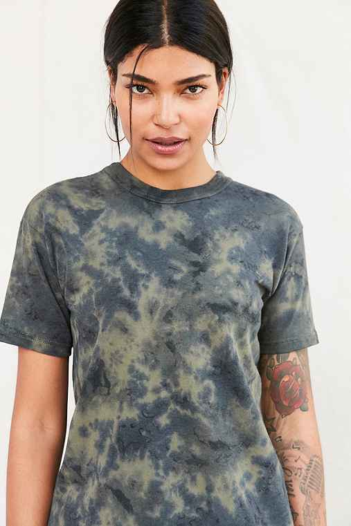Urban Renewal Remade Military Tubular Tee,GREEN,S/M