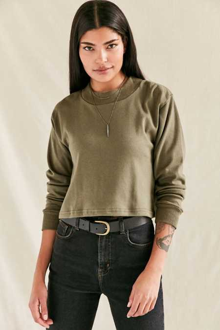 Vintage Military Long-Sleeved Mock Neck Top
