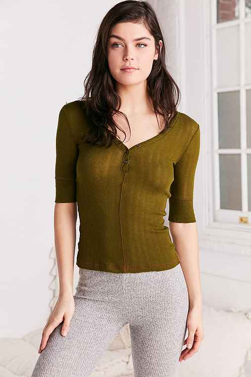 Out From Under Jordan Henley Top,OLIVE,S