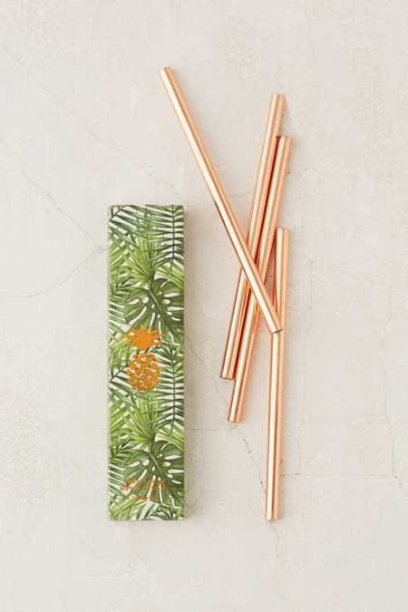 W&P Design Copper Straws Set