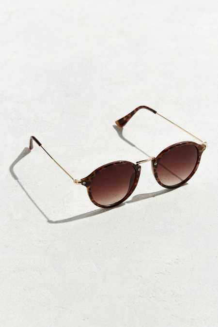 UO Metal Arm Round Sunglasses