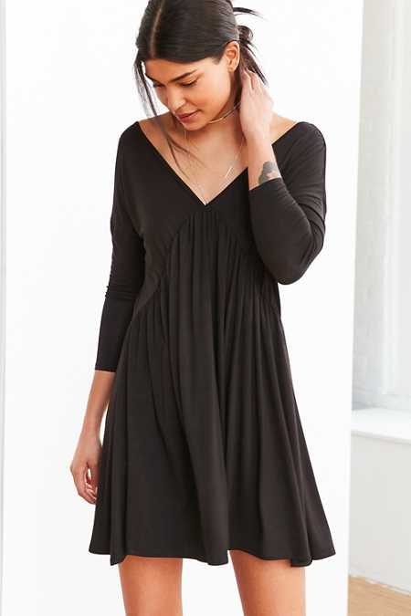 Cooperative Knit Babydoll Frock Mini Dress