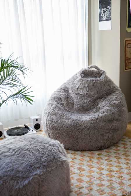 Aspyn Shag Bean Bag Chair