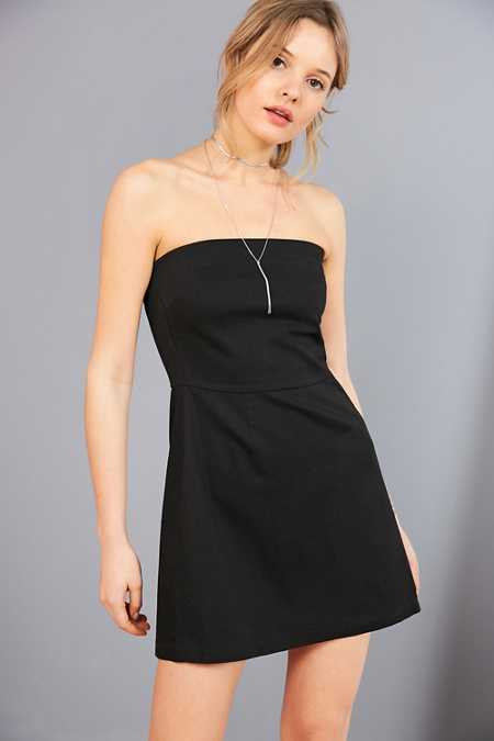 Silence + Noise Strapless A-Line Mini Dress