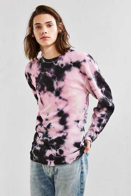 Hanes X US Rags Crystal Dye Thermal Long Sleeve Tee