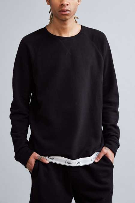 Calvin Klein Modern Cotton Lounge Crew Neck Sweatshirt