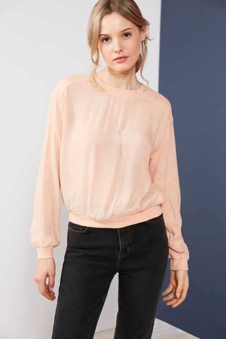 Silence + Noise Reyes Textured Pullover Blouse