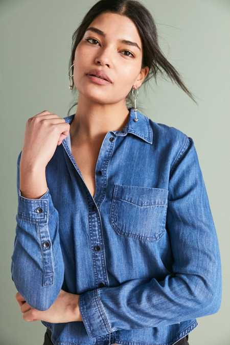 BDG Clara Denim Button-Down Shirt