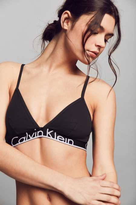 Calvin Klein ID Cotton Wide Band Triangle Bra