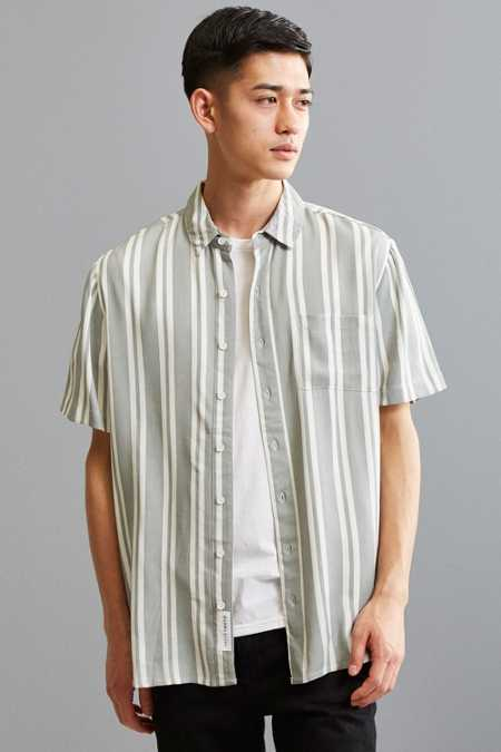 Native Youth Tunstall Vertical Stripe Button-Down Shirt