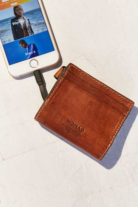 Nomad Leather Portable Power Wallet Charger