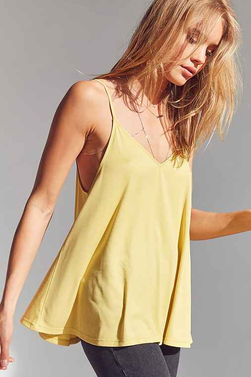 Silence + Noise Stella Strappy Swing Cami,YELLOW,L