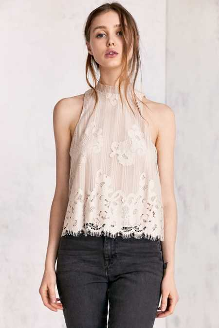 Kimchi Blue Tilly Lace Mock-Neck Top