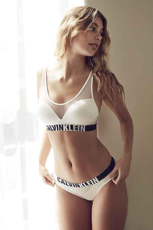 Calvin Klein ID Fashion Bikini,WHITE,L