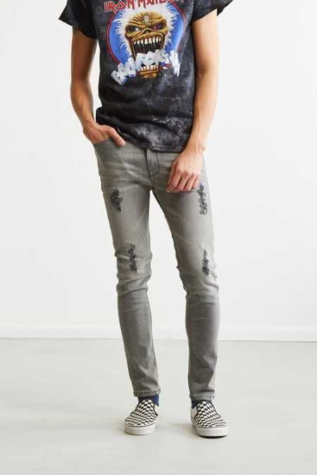 BDG Destructed Grey Super Skinny Jean