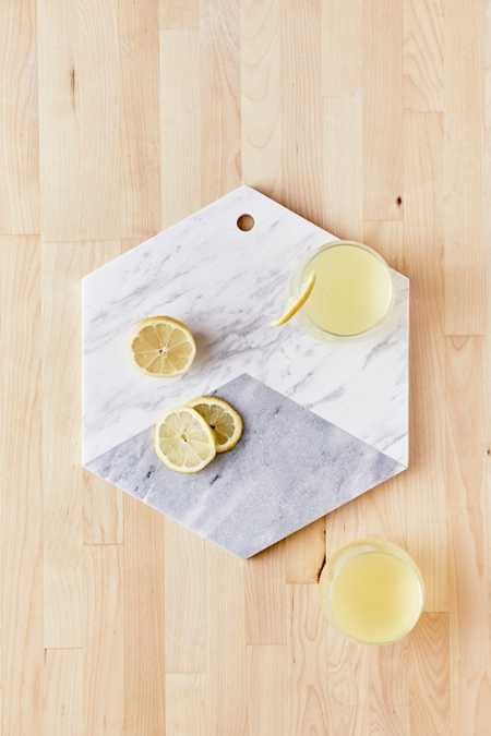 Marble Hexagon Cutting Board