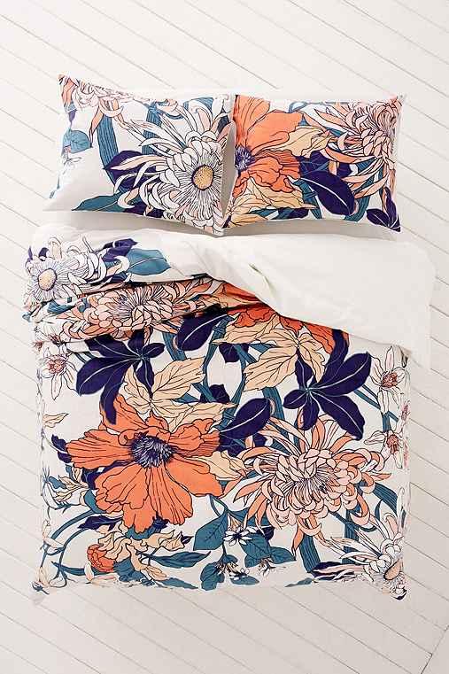 Botanical Scarf Duvet Cover,MULTI,KING