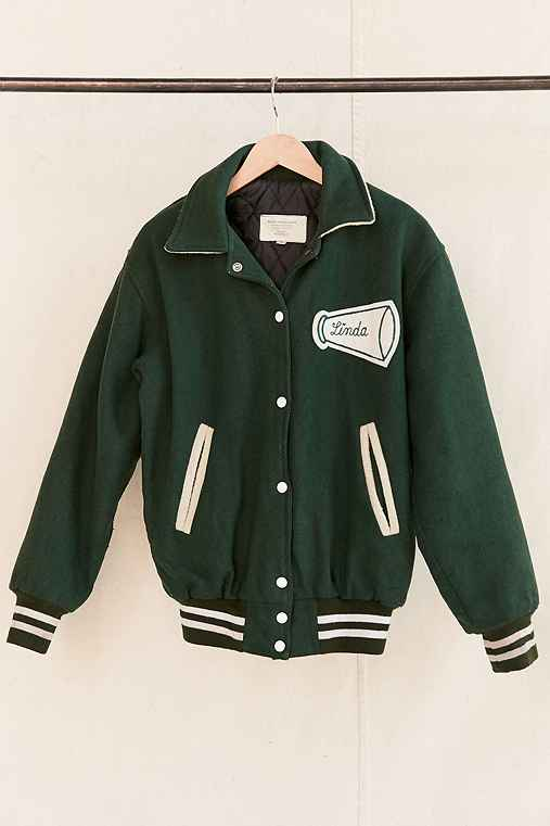 Vintage Cheerleader Varsity Jacket,ASSORTED,ONE SIZE