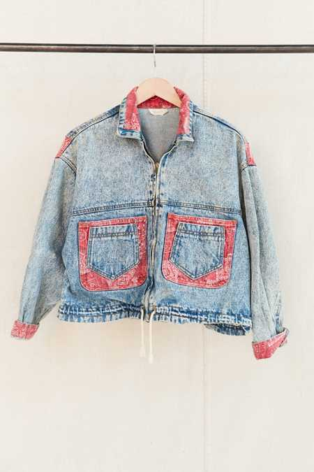 Vintage Bandana Denim Jacket