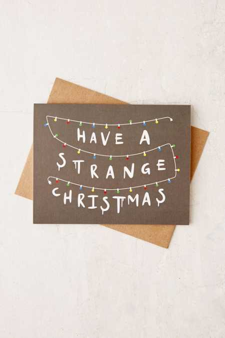 Lionheart Prints Strange Holiday Card