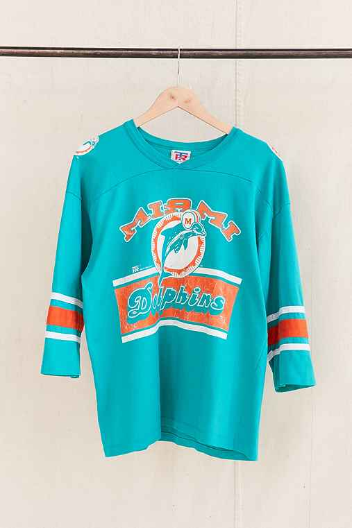 Vintage Dolphins Jersey Tee,ASSORTED,ONE SIZE
