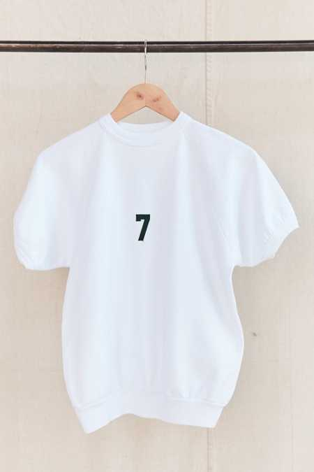 Vintage No. 7 Short-Sleeved Sweatshirt