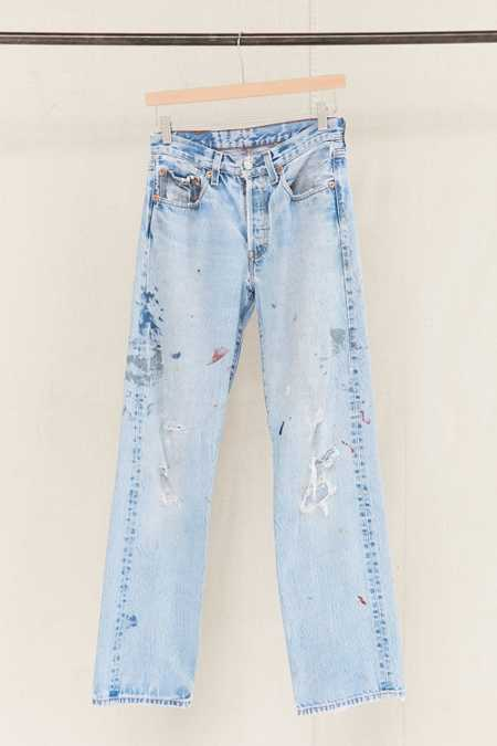 Vintage Levi's Distressed Painted Jean