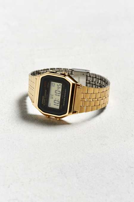 Casio Core Digital Gold Black Watch