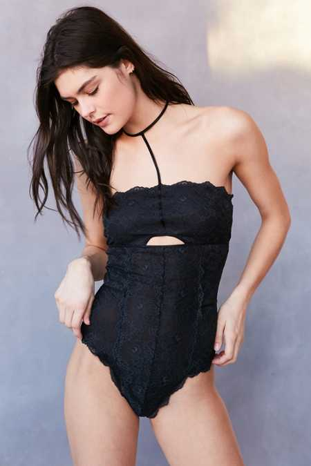 Out From Under Stella Lace Choker Bodysuit