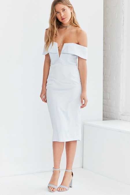 Bardot Luna Off-The-Shoulder Midi Dress