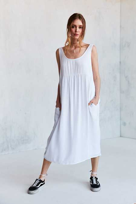 Ecote Gauze Babydoll Midi Dress